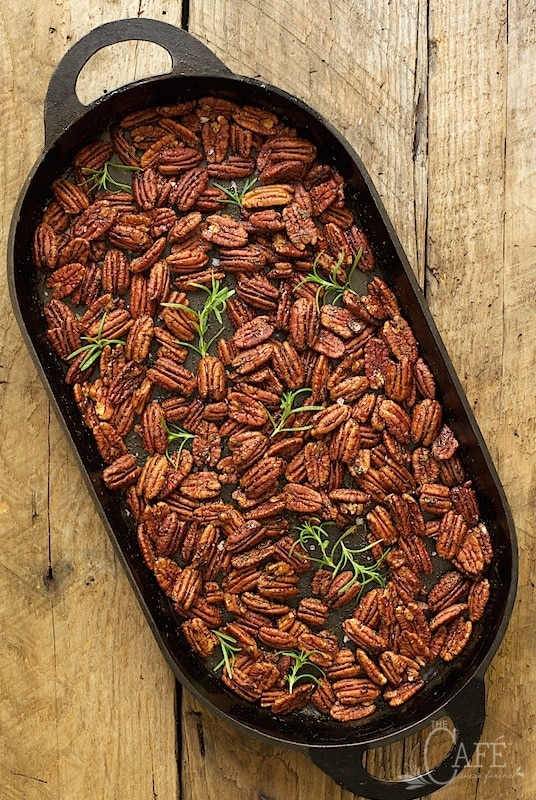 Maple and Rosemary Brown Butter Pecans - with a magical combination of ...