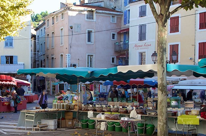 Market Day in Provence - the most colorful, beautiful, amazing markets that take place each week. Each little village has it's own market day!