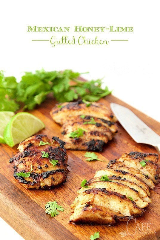 Mexican Honey-Lime Grilled Chicken - don't worry about this chicken drying out, it stays moist, tender and full of fabulous Southwest-inspired flavor! thecafesucrefarine.com