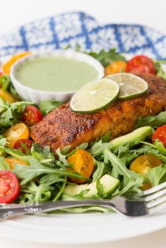 Mexican Seared Salmon Salad
