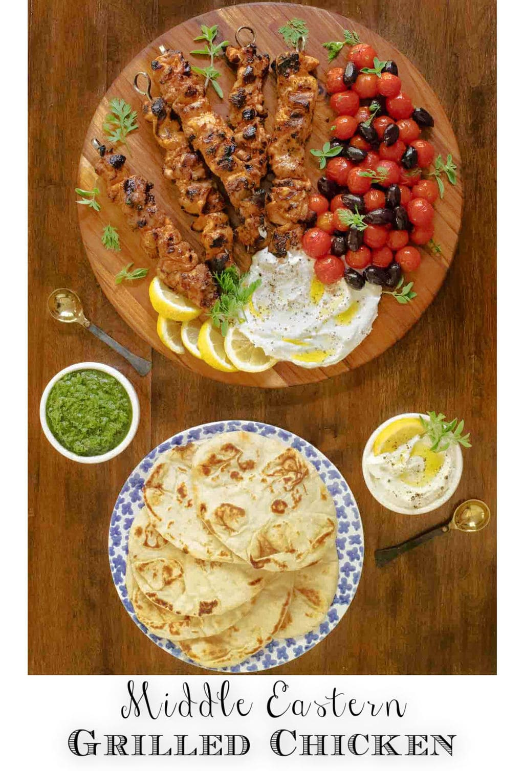 Middle Eastern Grilled Chicken with Toum (Shish Taouk)