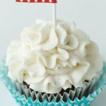 Moist Chocolate Cupcakes with Vanilla Bean Icing