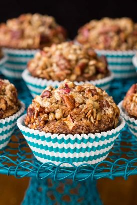 Candied Pecan Morning Glory Muffins