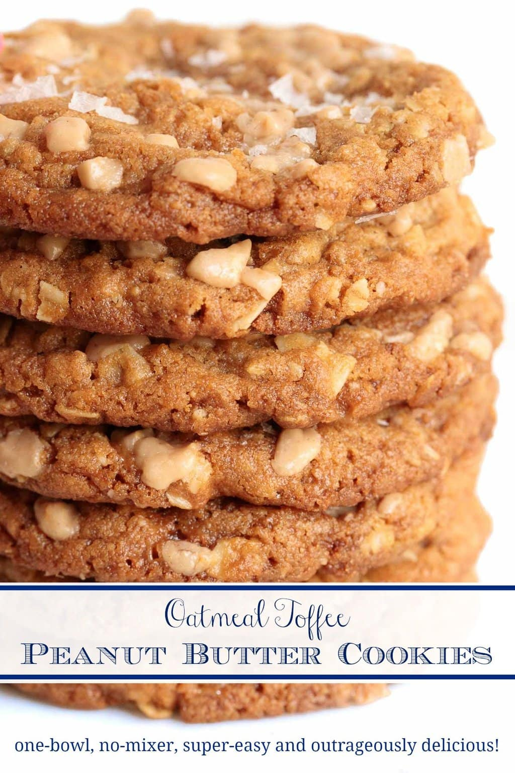 Toffee Oatmeal  Peanut Butter Cookies