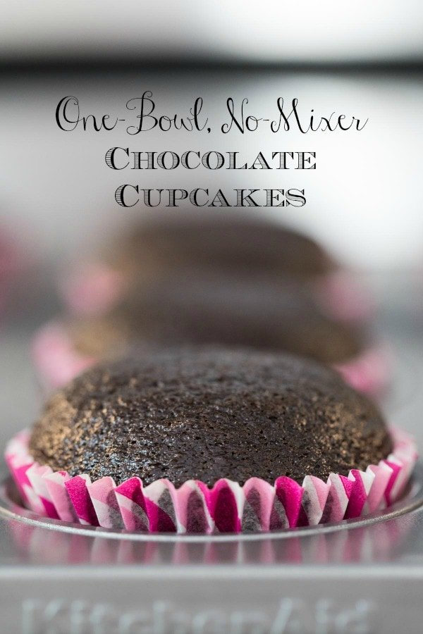 One-Bowl Easy Chocolate Cupcakes