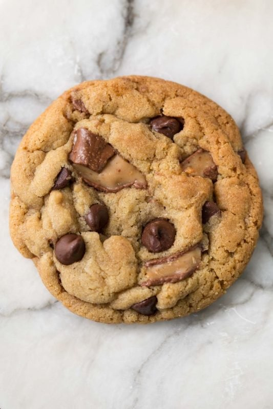 One Bowl Toffee Bar Chocolate Chip Cookies