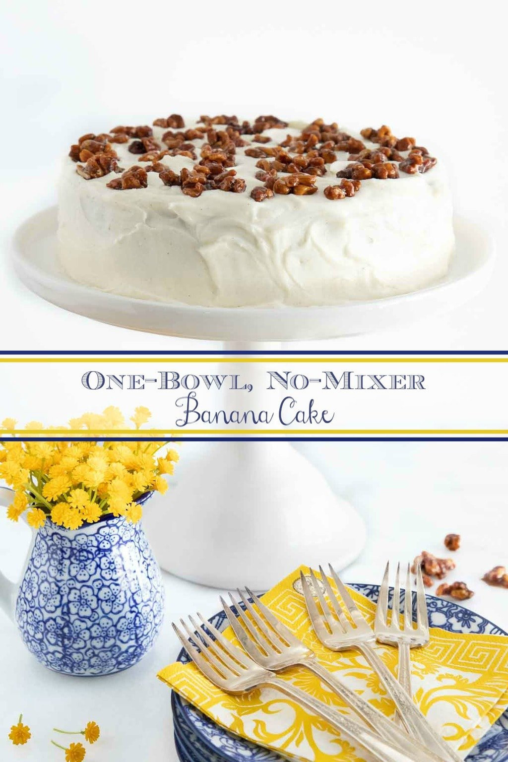 One-Bowl No-Mixer Banana Cake