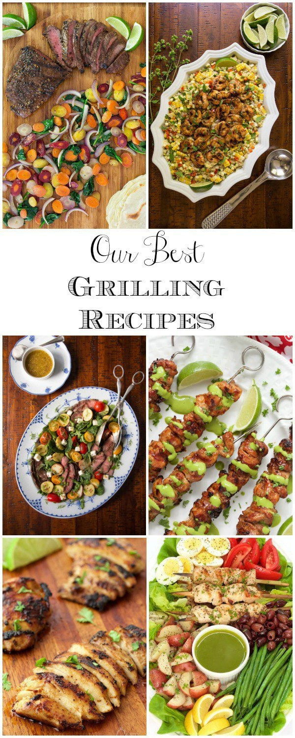 Some of our best grilling recipes from the Café archives. You'll be sure to find lots of great ideas for your summer recipe arsenal! #grilling #bestgrillingrecipes #grilledchicken #grillingsteak #grilledshrimp #grillrecipes