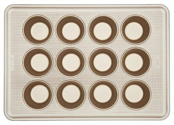 Stock photo of Oxo cupcake baking pan.