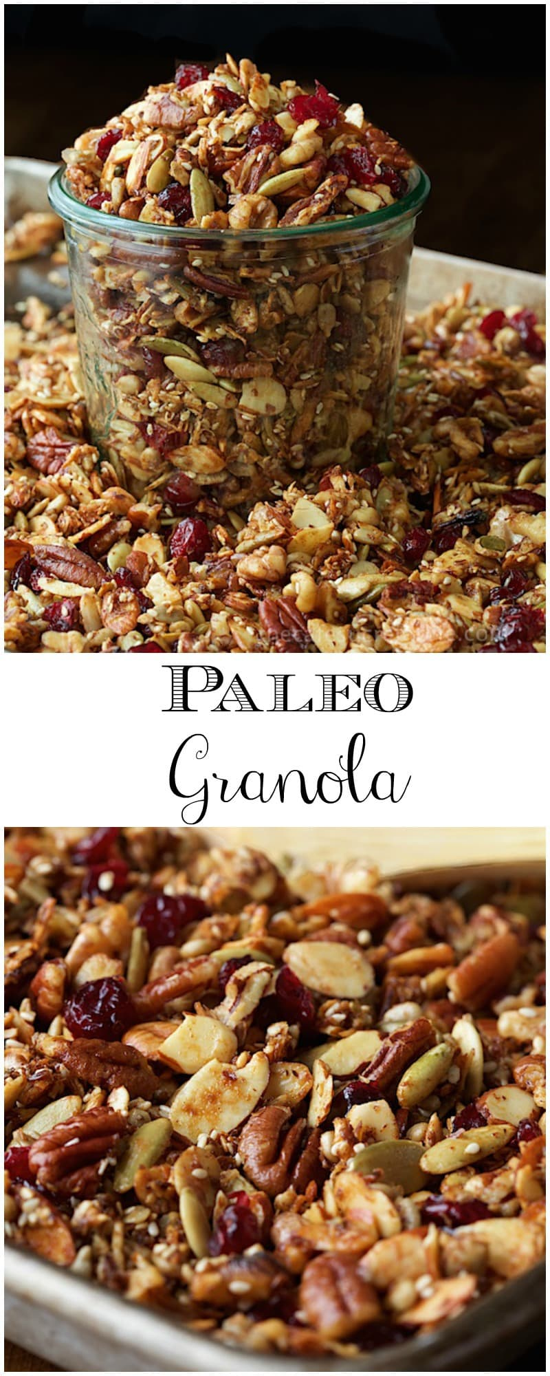 This Paleo Granola is super healthy, crazy delicious and you won't believe how easy it is to throw together!