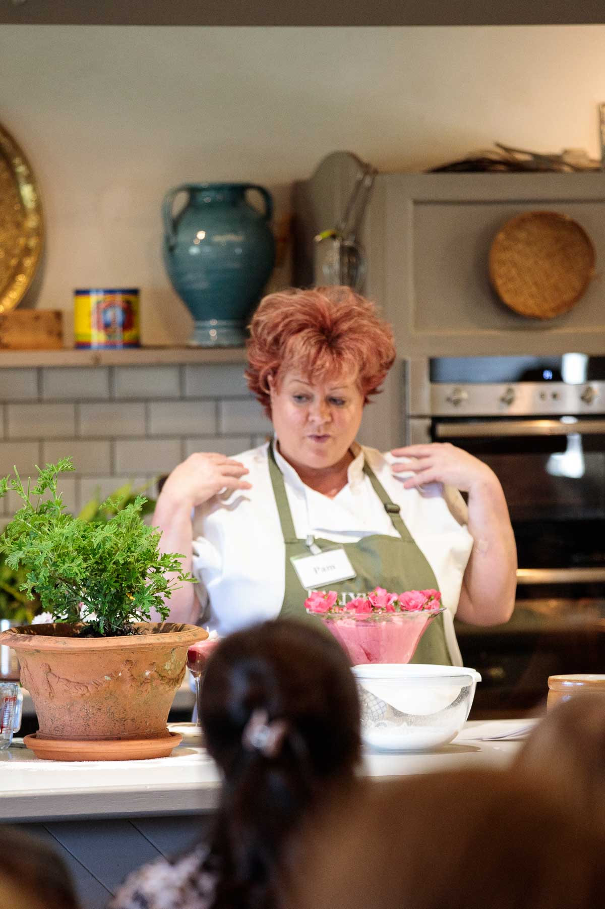 Photo of Pam, one of the instructors at the Ballymaloe Cookery School.