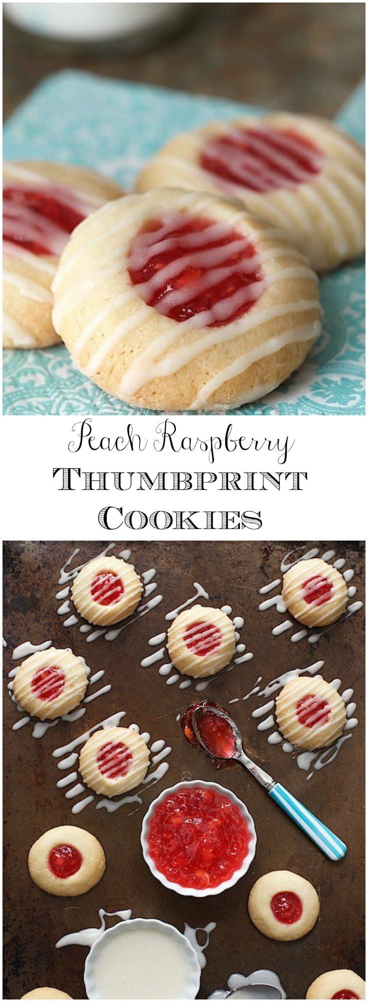 With only five ingredients, these buttery, melt-in-your-mouth Peach Raspberry Thumbprint Cookies are super easy; and incredibly delicious!