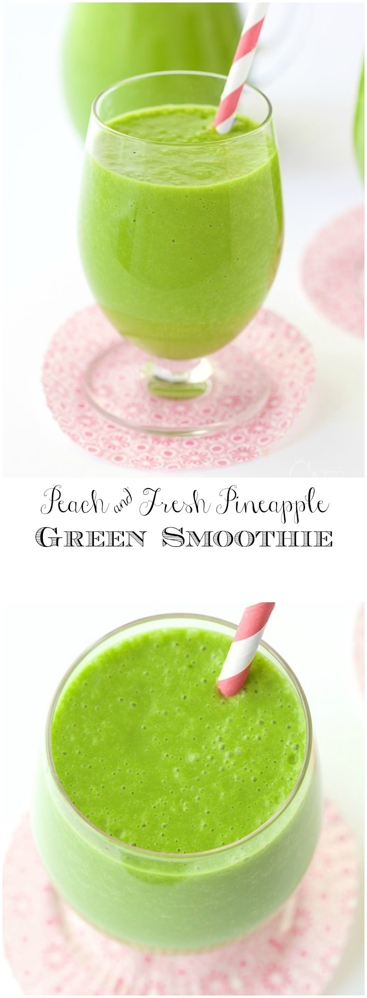 This green smoothie is a super healthy and delicious way to start the day!