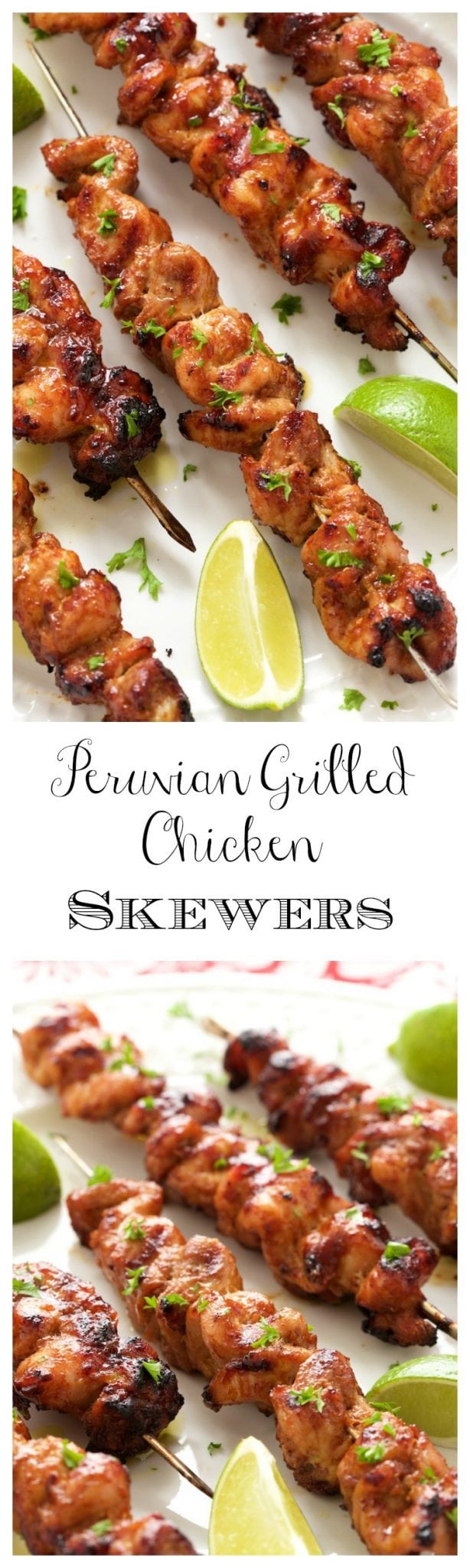 Peruvian Grilled Chicken Skewers - Juicy tender grilled chicken, bursting with vibrant flavor. A delicious fusion of South American and Asian cuisines!