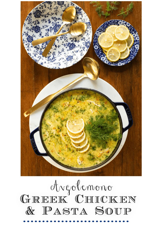 Avgolemono (Greek Chicken Pasta Soup)