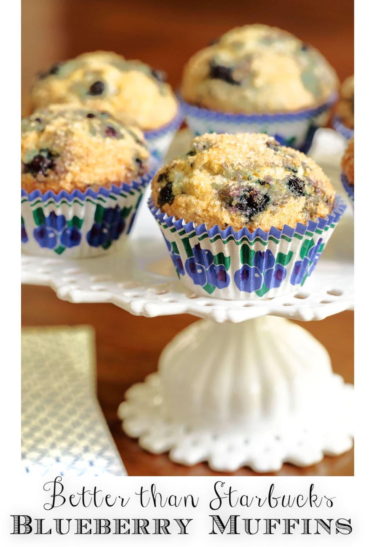 Better than Starbucks Blueberry Muffins