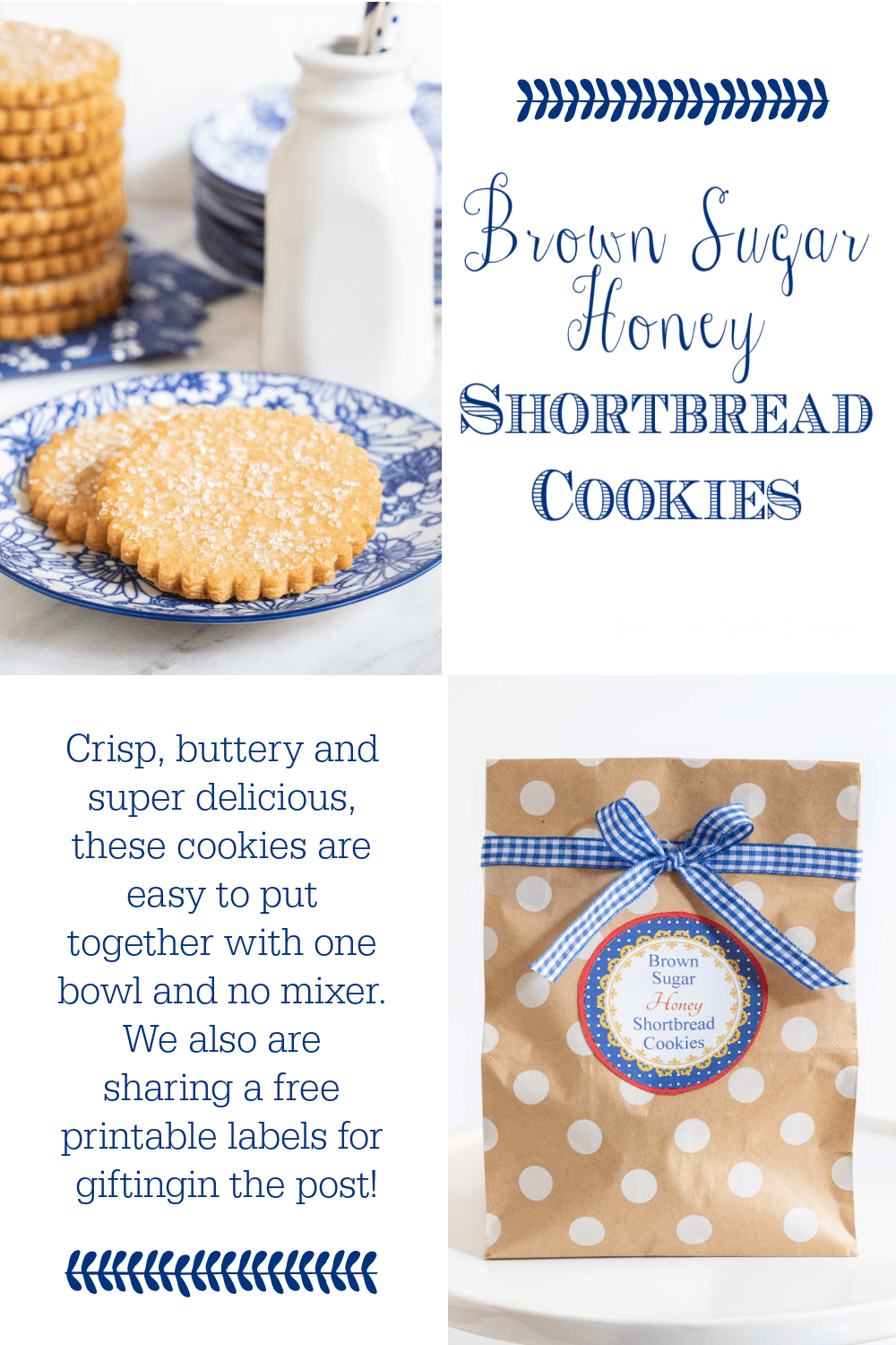 Brown Sugar Honey Shortbread Cookies
