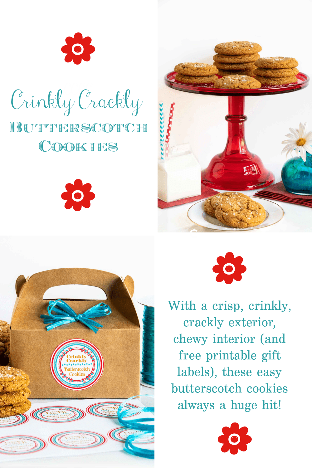 Crinkly Crackly Butterscotch Cookies