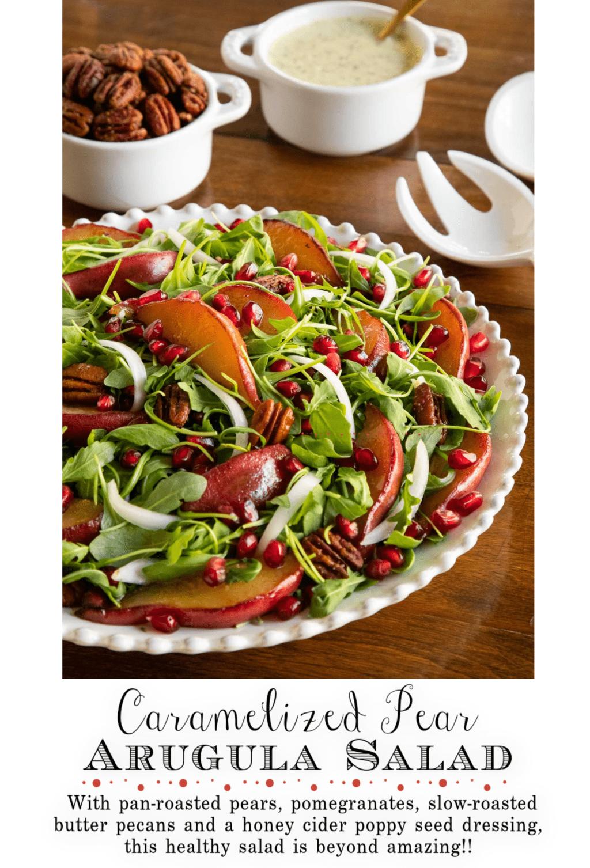 Caramelized Pear Arugula Salad