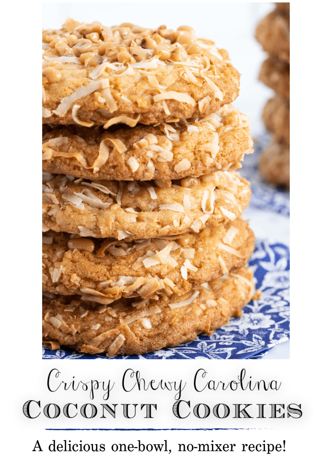 Crispy, Chewy Carolina Coconut Cookies