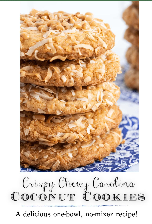 Crispy, Chewy Carolina Coconut Cookies