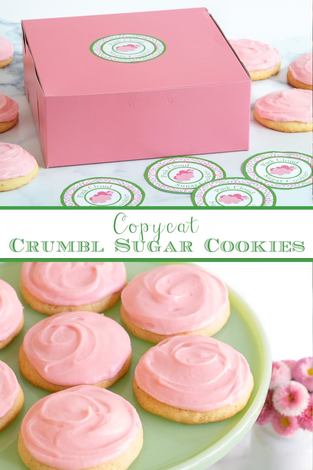 Copycat Crumbl Sugar Cookies (aka Pink Cloud Cookies)