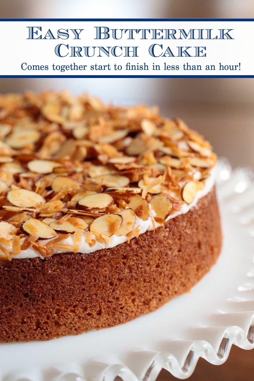 Easy Buttermilk Butter Crunch Cake