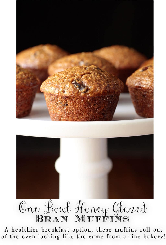 One-Bowl Honey-Glazed Bran Muffins