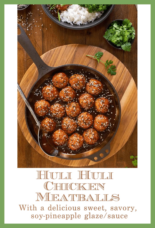 Huli Huli Chicken Meatballs