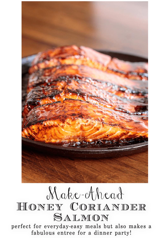 Honey Coriander Make-Ahead Salmon