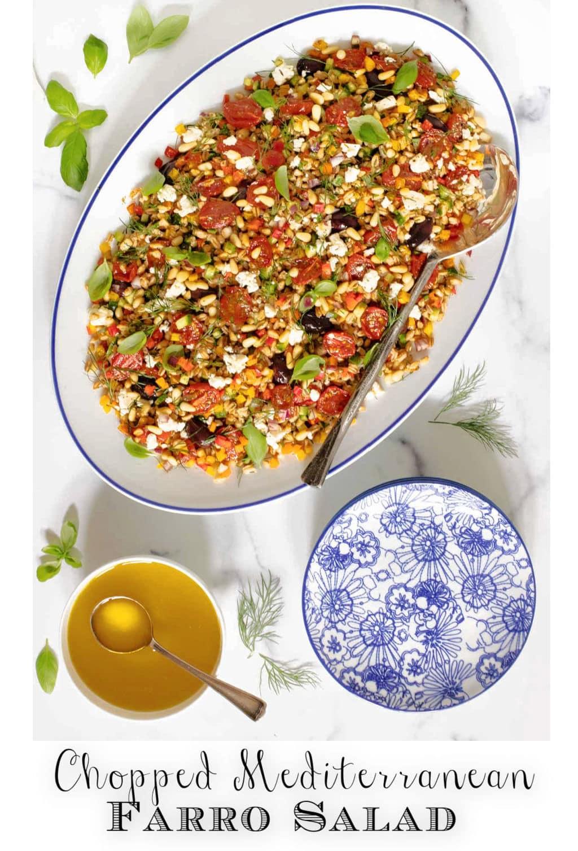 Chopped Mediterranean Farro Salad
