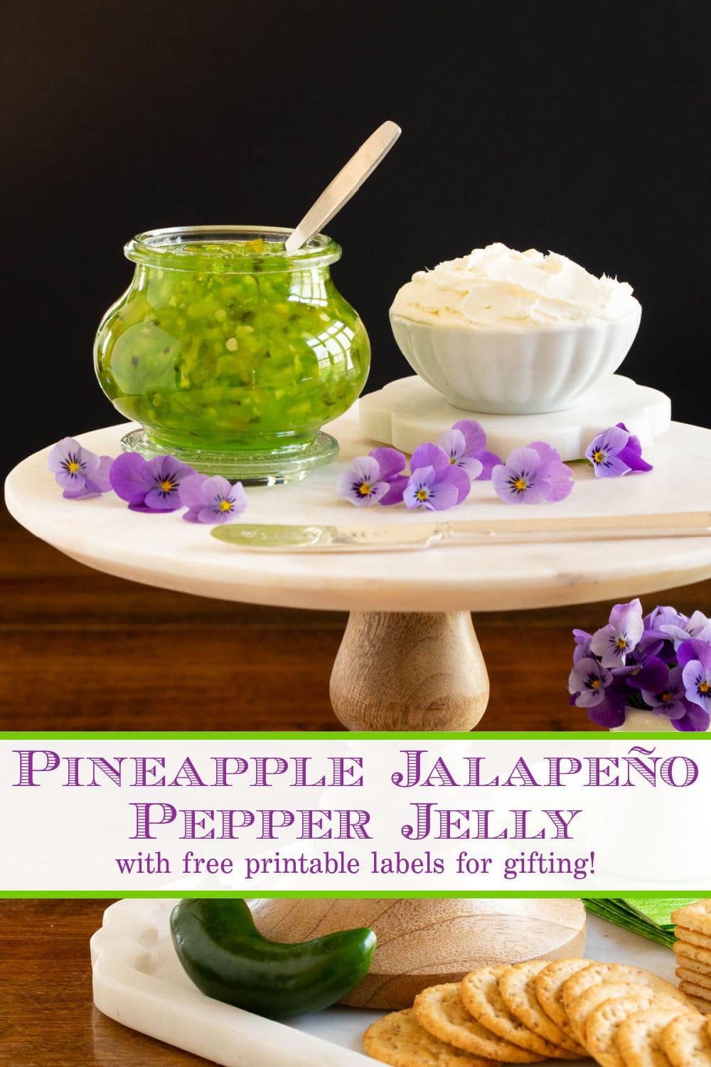 Pineapple Jalapeño Pepper Jelly (no canning skills needed!)