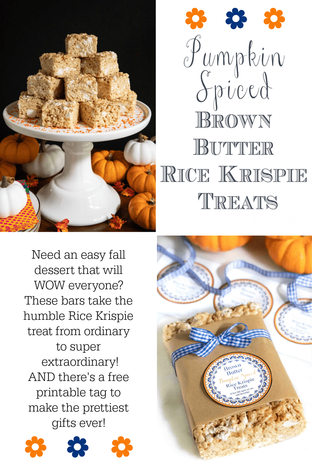 Pumpkin Spiced Brown Butter Rice Krispie Treats
