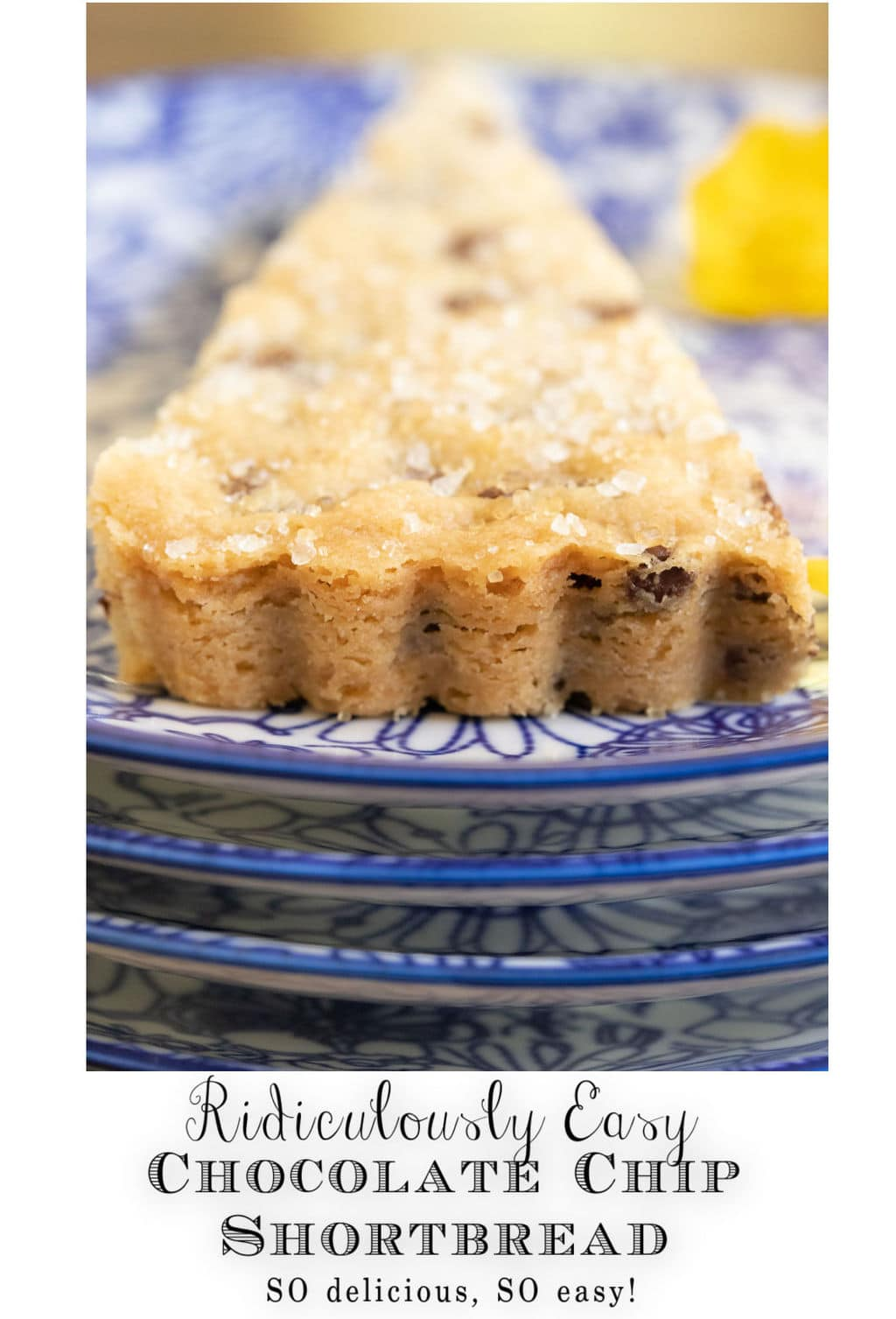 Ridiculously Easy Chocolate Chip Shortbread