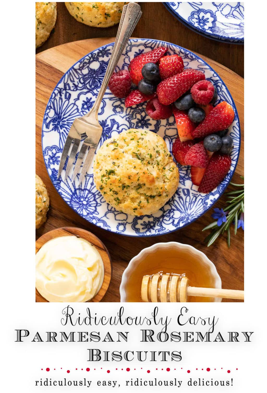 Ridiculously Easy Rosemary Parmesan Biscuits