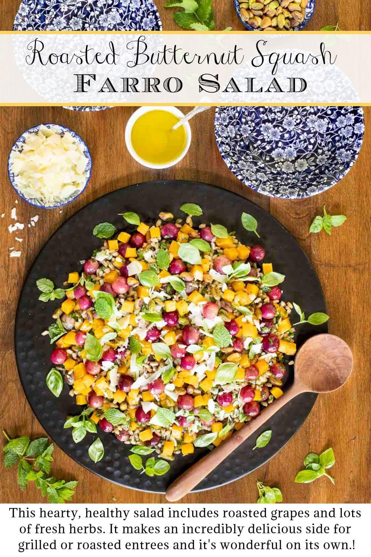 Roasted Butternut Farro Salad