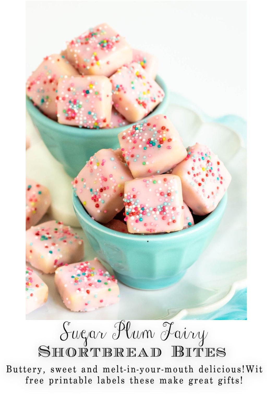 Sugar Plum Fairy Shortbread Bites