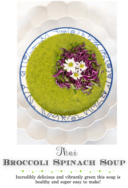 Thai Broccoli Spinach Soup