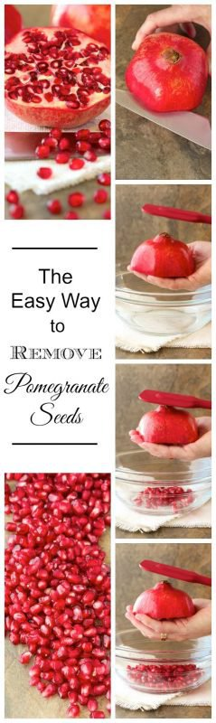 The Easy Way to Remove Pomegranate Arils - no fuss, no mess, no water!!