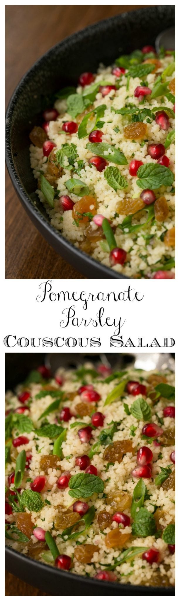 Pomegranate Parsley Couscous Salad - super easy to prepare, this is the perfect healthy side for everyday and special occasions.