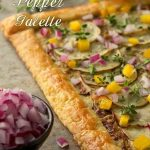Potato, Pesto & Pepper Galette