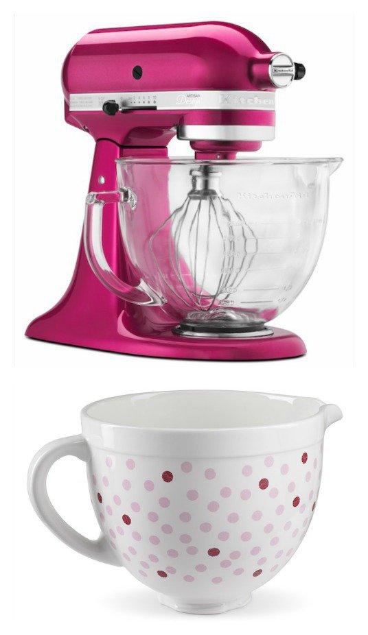We're giving away a Raspberry Ice Mixer and Polka Dot Bowl! Check it out!