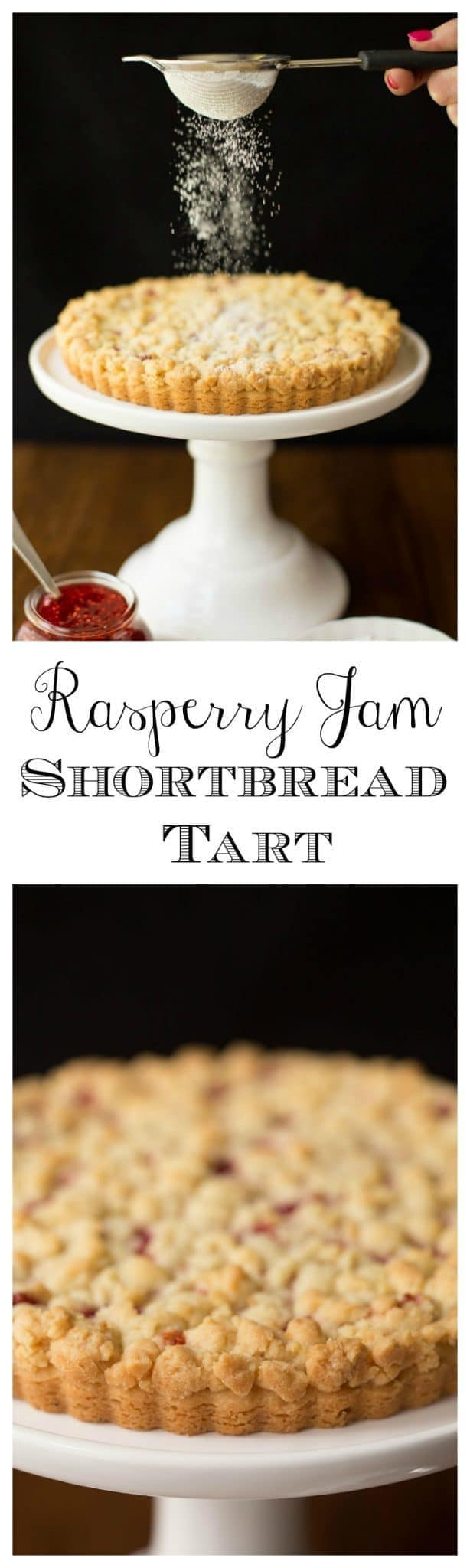 With a layer of sweet raspberry jam and the crisp, shortbread crust and buttery crumble topping, this might be one of the most delicious desserts you've had!