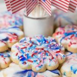 Red, White and Blue Glazed Shortbread Cookies + Video