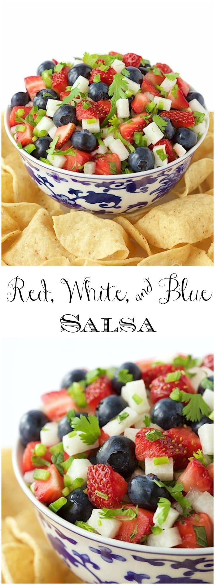 This salsa is bright, fresh, delicious, and oh so patriotic!