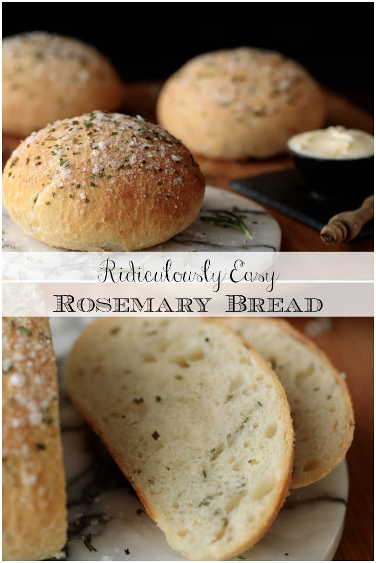 This Ridiculously Easy Rosemary Bread definitely earns its ridiculously easy name but, even better... it's ridiculously delicious! #easybread #artisan bread #rosemary bread #overnightbread #seasalt