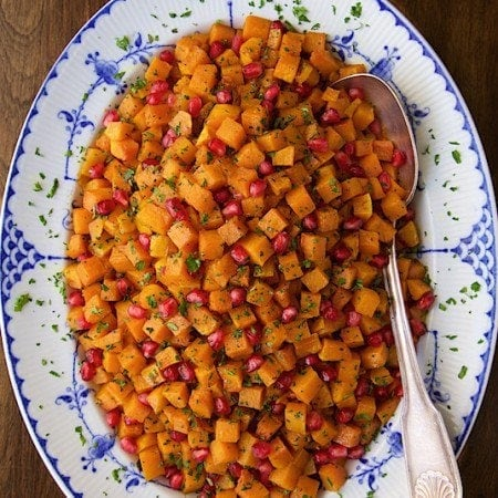 Roasted Brown Sugar-Curry Butternut Squash - with brown sugar, maple syrup, a touch of curry and a dash of cinnamon this delicious butternut squash will be sure to bring rave reviews!