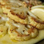 Roasted Cauliflower Steaks and Polenta