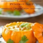 Roasted Pumpkin Soup with Ginger Cream