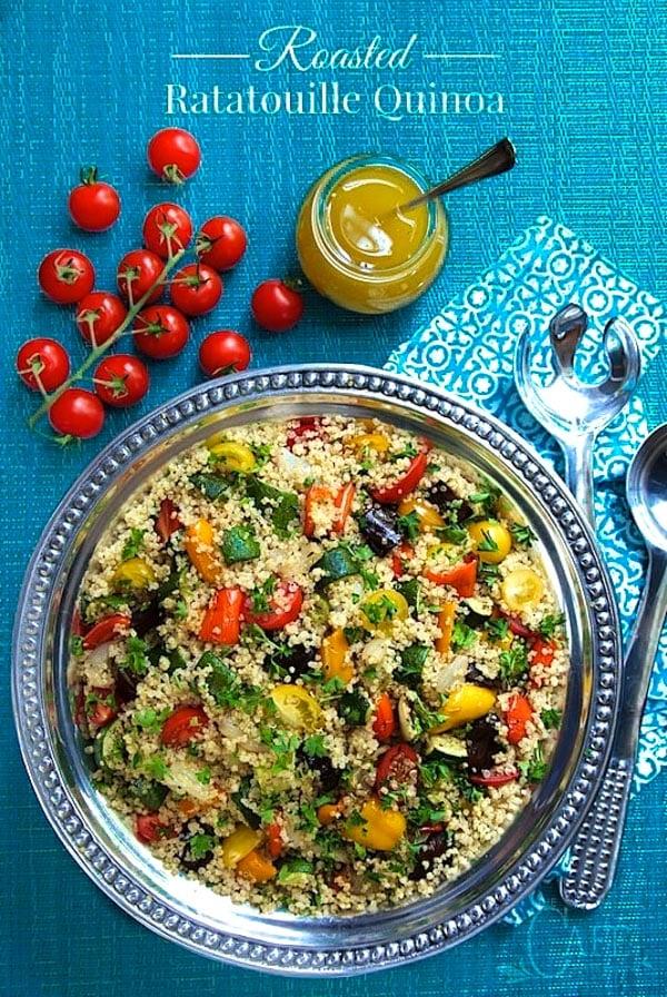 Roasted Ratatouille Quinoa Salad